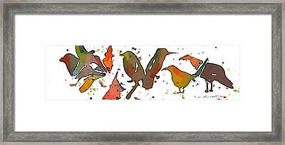 Crazy Birds Framed Print