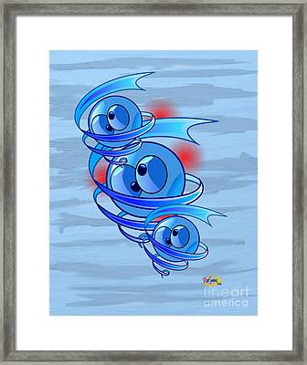 Crazy Blue Eyes Framed Print by Rod Seeley