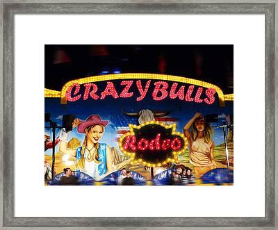 Crazy Bulls Framed Print by Charles Stuart