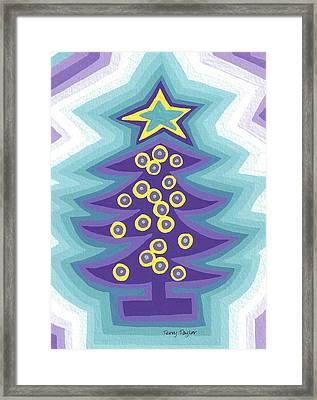 Crazy Christmas Tree Framed Print