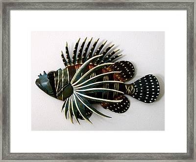 Crazy Fish Framed Print