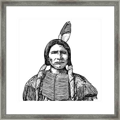 Crazy Horse Framed Print by Karl Addison