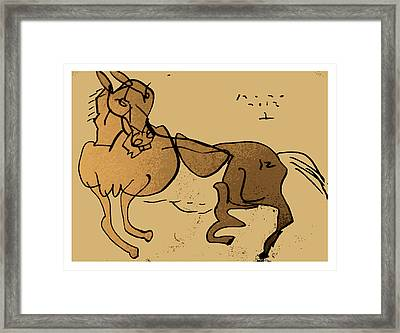 Crazy Horse Framed Print by Peter Szabo