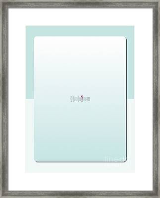 Cream Mint Back  Framed Print