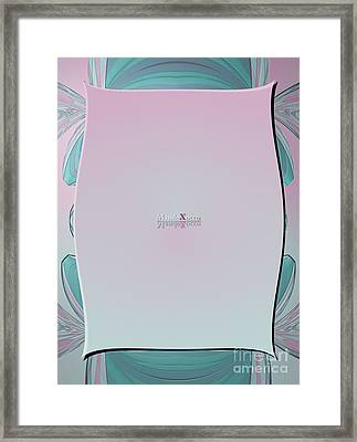 Cream Mint Side Framed Print