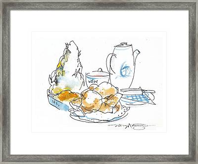 Cream Scones And Jam Framed Print