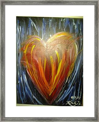 Create In Me A Clean Heart Framed Print by Kaylania Chapman