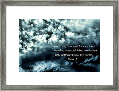 Creation Framed Print by Myrna Migala