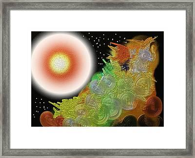 Creation's Beginning  Framed Print