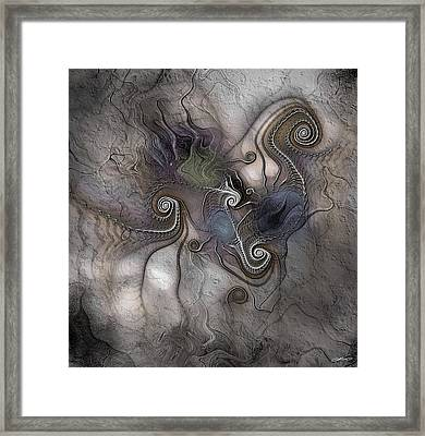 Framed Print featuring the digital art Creatively Calcified by Casey Kotas