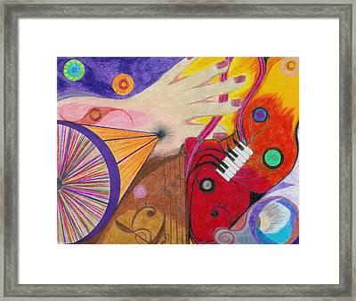 Creativity Framed Print by Aileen Heymach