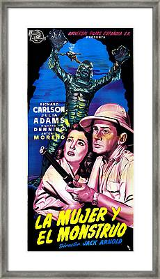 Creature From The Black Lagoon, Aka La Framed Print by Everett