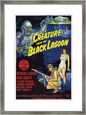 Creature From The Black Lagoon, Bottom Framed Print by Everett