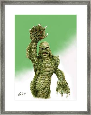 Creature From The Black Lagoon Framed Print by Bruce Lennon