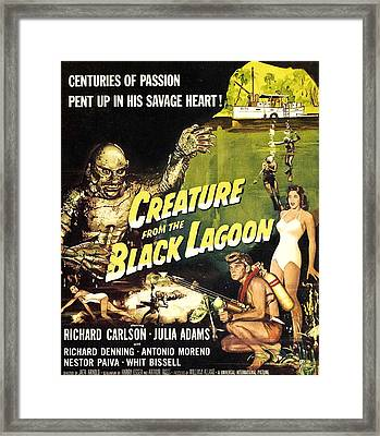 Creature From The Black Lagoon, Richard Framed Print by Everett