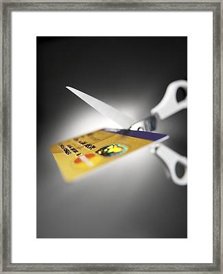 Credit Card Debt Framed Print
