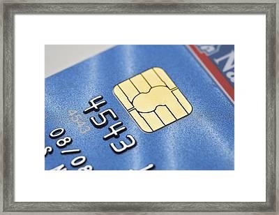 Credit Card Microchip Framed Print