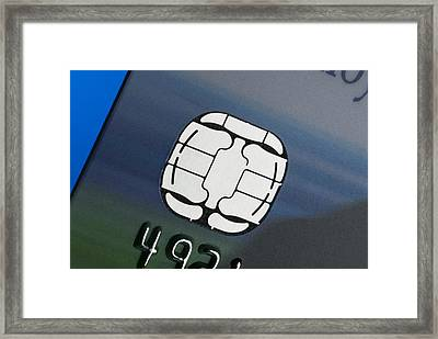 Credit Card Microchip Framed Print by Steve Horrell