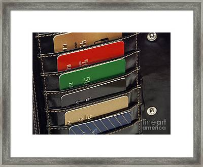 Credit Cards In Wallet Framed Print