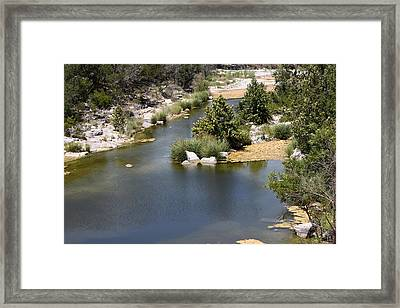Creek In Marble Falls Framed Print by Linda Phelps