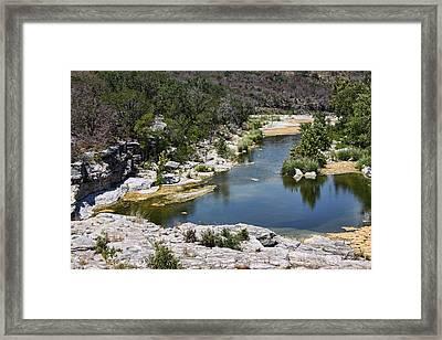 Creek Water Framed Print by Linda Phelps