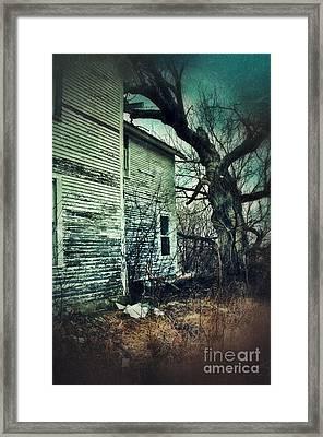 Creepy Abandoned House  Framed Print by Jill Battaglia