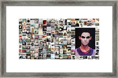 Creepy Alien Guy Framed Print by Holley Jacobs