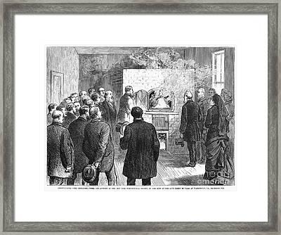 Cremation, 1876 Framed Print