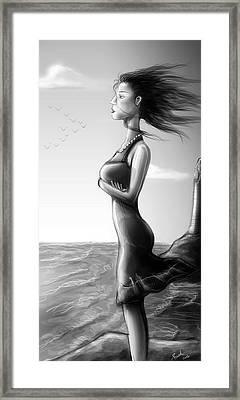 Crepuscolo Sul Mare Framed Print