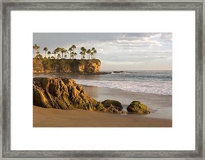 Crescent Bay Beach Laguna Framed Print