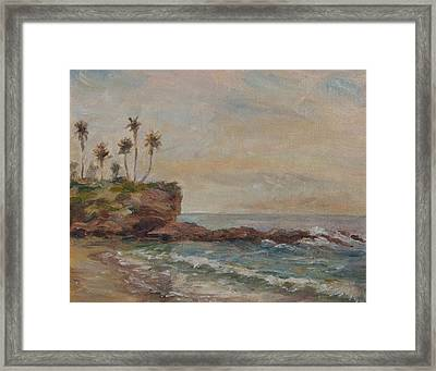 Crescent Bay December Framed Print