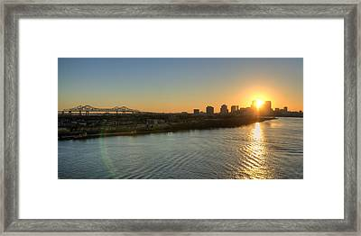 Framed Print featuring the photograph Crescent City Sunset by Ray Devlin