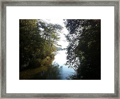 Crescent Lake Thru The Trees Framed Print