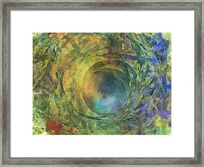 Crescent Moon And Earth Framed Print by Betsy Knapp