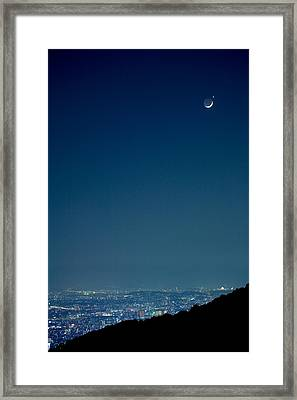 Crescent Moon And Venus Framed Print