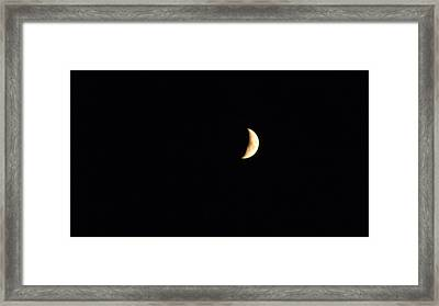 Crescent Moon Framed Print by Jessica Cruz