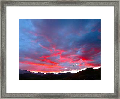 Crested Butte Alpenglow Framed Print