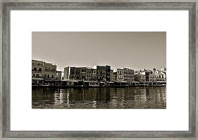 Framed Print featuring the photograph Crete Reflected by Eric Tressler