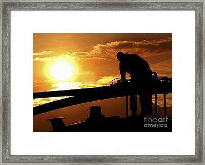 Crew Chief Of An Hh-60 Pave Hawk Framed Print by Stocktrek Images