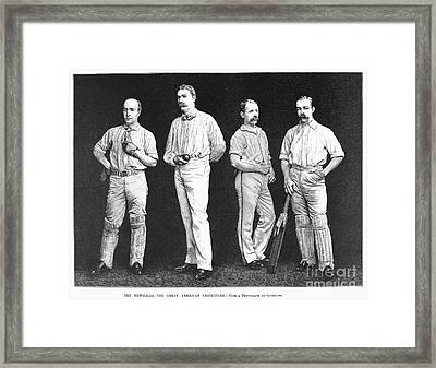 Cricket Players, 1889 Framed Print