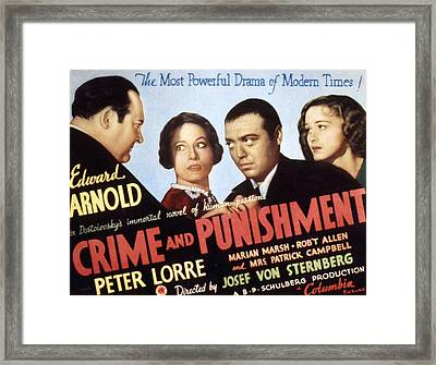 Crime And Punishment, Edward Arnold Framed Print