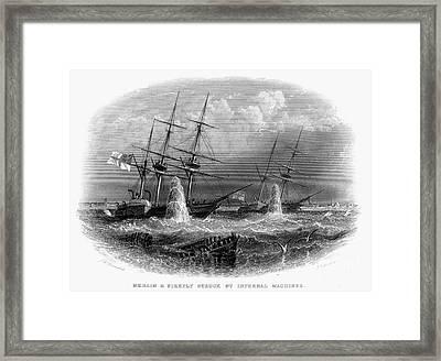 Crimean War: Naval Action Framed Print by Granger