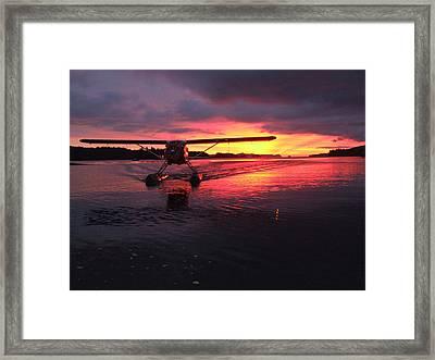 Crimson Skies Framed Print by Mark Alan Perry