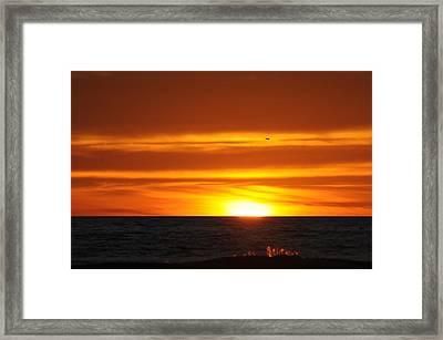 Crimson Sunset Framed Print