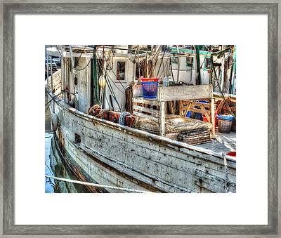 Crimson Tide Deck Framed Print