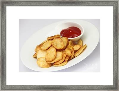 Crisps With Ketchup  Framed Print