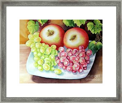 Crispy Fruits Framed Print