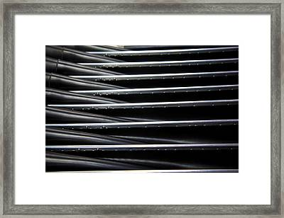 Criss Cross Runners And Riders Framed Print