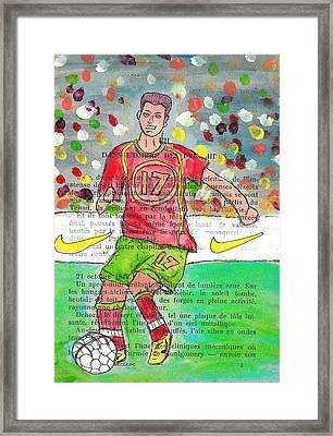 Cristiano Ronaldo Framed Print by Jera Sky