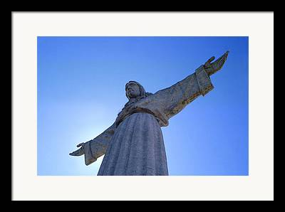 Catholic Monument Of Jesus Christ Inspired By The Christ The Redeemer Framed Prints
